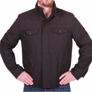 Kenneth Cole Black Canvas Bomber Jacket XL Coat